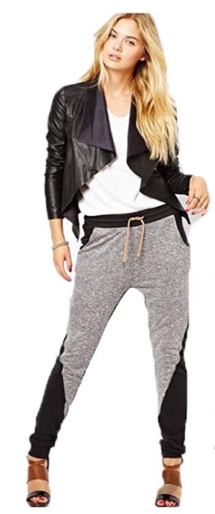 grayl-joggers-pants-white-tee-black-jacket-moto-brown-shoe-sandalh-wear-style-fashion-spring-summer-blonde-sweats-weekend.jpg