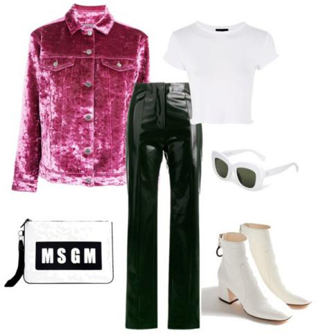 black-slim-pants-white-tee-pink-magenta-jacket-jean-white-shoe-booties-sun-white-bag-leather-velvet-fall-winter-lunch.jpg
