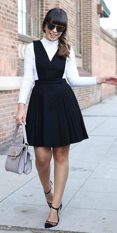 black-dress-jumper-white-tee-turtleneck-sun-brun-gray-bag-black-shoe-pumps-layer-fall-winter-work.jpg