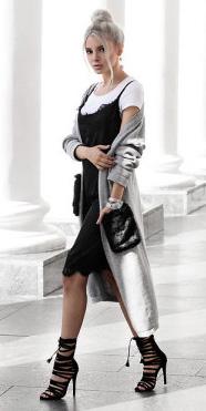 black-dress-slip-white-tee-bun-grayl-jacket-coat-black-shoe-sandalh-howtowear-spring-summer-blonde-dinner.jpg
