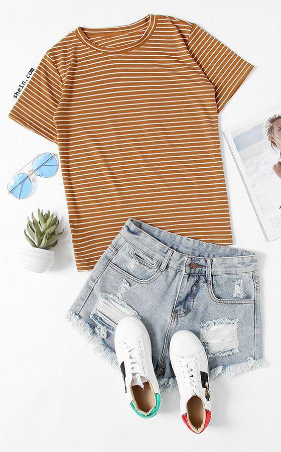 blue-light-shorts-white-shoe-sneakers-sun-camel-tee-stripe-spring-summer-weekend.jpg