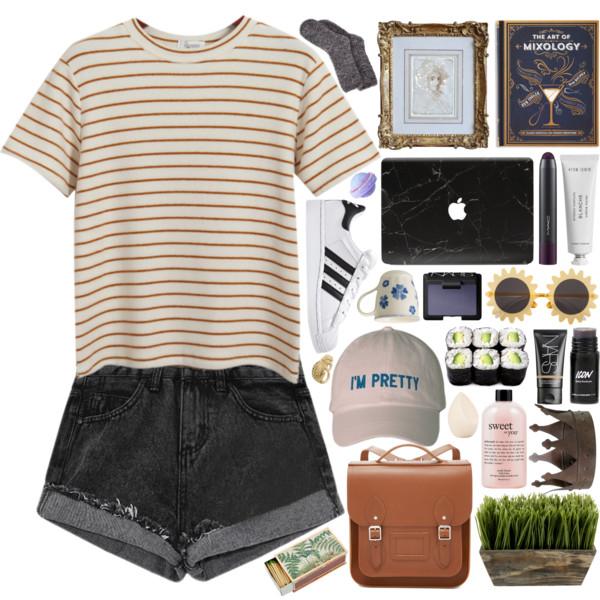 black-shorts-o-camel-tee-stripe-white-shoe-sneakers-socks-hat-cap-cognac-bag-howtowear-fashion-style-outfit-spring-summer-denim-weekend.jpg