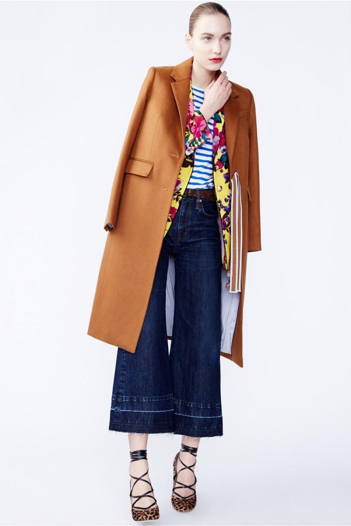 blue-navy-culottes-pants-blue-med-tee-stripe-yellow-jacket-blazer-camel-jacket-coat-hairr-fall-winter-style-fashion-wear-floral-tan-shoe-pumps-denim-jcrew-lunch.jpg