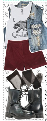 r-burgundy-shorts-white-graphic-tee-blue-light-vest-jean-black-shoe-booties-fashion-style-outfit-fall-winter-weekend.jpg