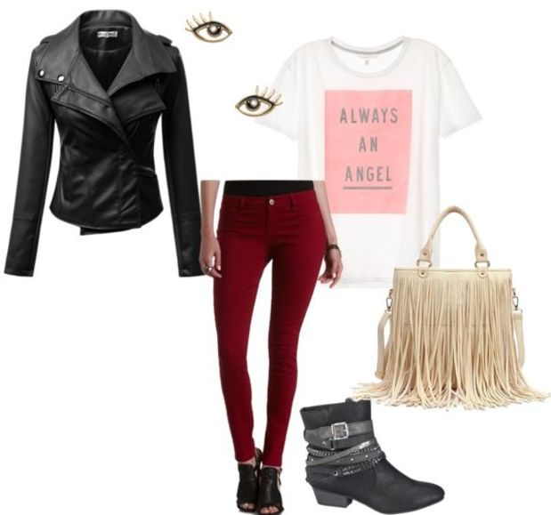 burgundy-skinny-jeans-white-graphic-tee-black-jacket-moto-fall-winter-fringe-black-shoe-booties-white-bag-fringe-lunch.jpg