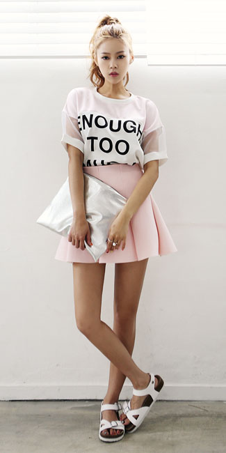 pink-light-mini-skirt-white-graphic-tee-pony-white-shoe-sandals-hairr-spring-summer-weekend.jpg