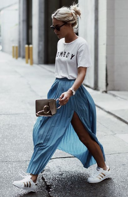 blue-med-maxi-skirt-white-graphic-tee-blonde-bun-white-shoe-sneakers-spring-summer-weekend.jpg