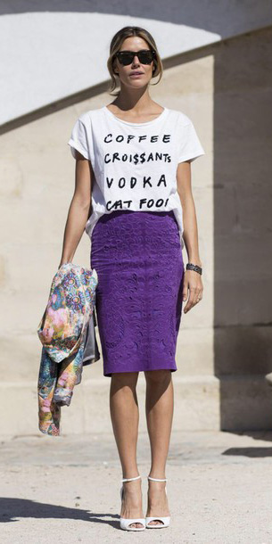 purple-royal-pencil-skirt-white-graphic-tee-white-shoe-sandalh-pony-spring-summer-blonde-lunch.jpg