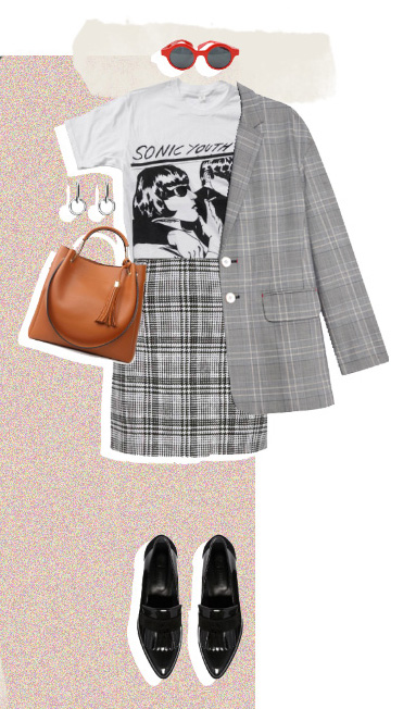 grayl-mini-skirt-plaid-white-graphic-tee-cognac-bag-sun-black-shoe-loafers-grayl-jacket-blazer-boyfriend-fall-winter-lunch.jpg