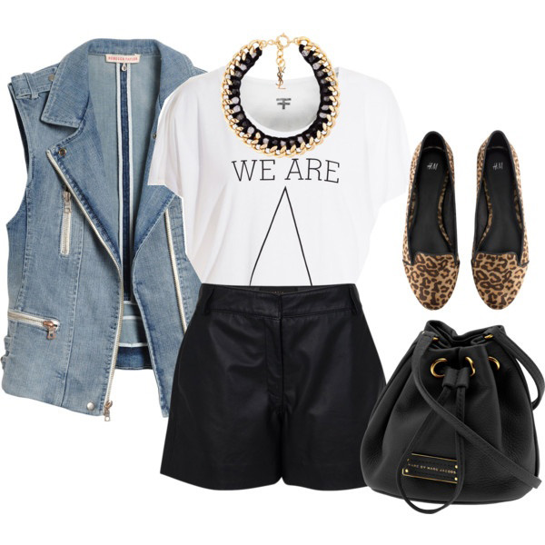 black-shorts-white-graphic-tee-necklace-collar-tan-shoe-flats-leopard-print-black-bag-blue-light-vest-moto-spring-summer-lunch.jpg