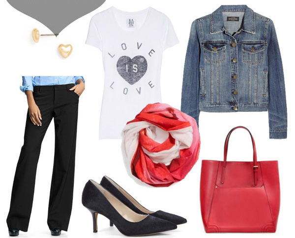 black-wideleg-pants-blue-med-jacket-jean-white-graphic-tee-red-bag-tote-red-scarf-black-shoe-pumps-studs-howtowear-valentinesday-outfit-fall-winter-casualfriday-work.jpg