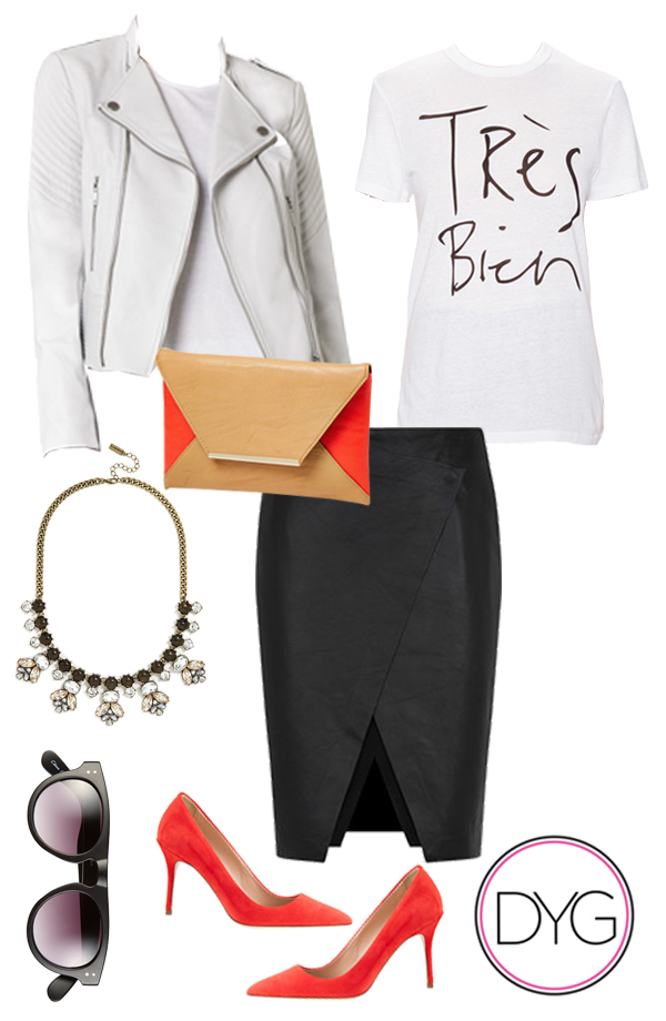 black-pencil-skirt-red-shoe-pumps-white-graphic-tee-sun-bib-necklace-tan-bag-clutch-white-jacket-moto-spring-summer-dinner.jpg