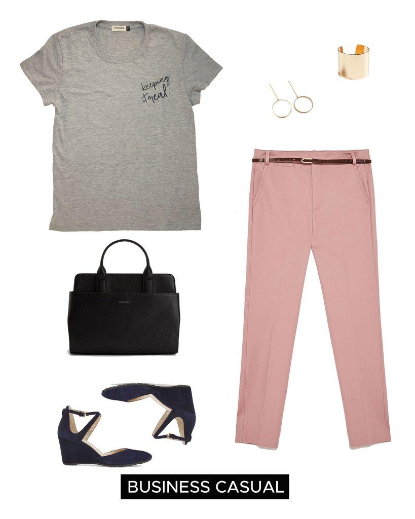 pink-light-slim-pants-grayl-graphic-tee-blue-shoe-pumps-black-bag-earrings-bracelet-spring-summer-work.jpg