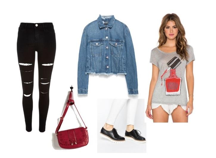 black-skinny-jeans-blue-med-jacket-jean-grayl-graphic-tee-red-bag-black-shoe-brogues-fall-winter-weekend.jpg