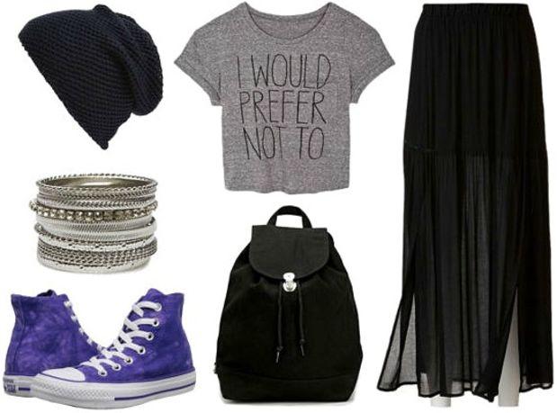 black-maxi-skirt-grayl-graphic-tee-black-bag-pack-sheer-style-outfit-fall-winter-crop-beanie-purple-shoe-sneakers-bracelet-weekend.jpg