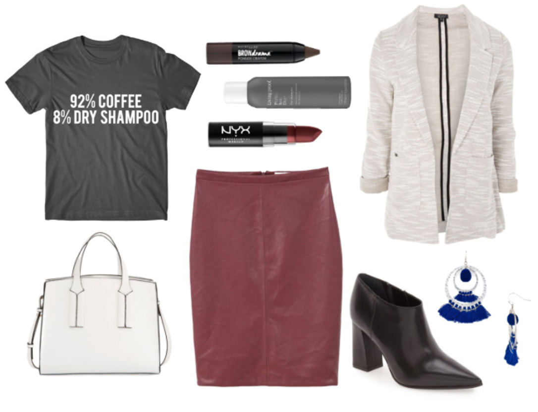 burgundy-pencil-skirt-black-graphic-tee-white-jacket-blazer-white-bag-black-shoe-booties-earrings-casualfriday-fall-winter-work.jpg