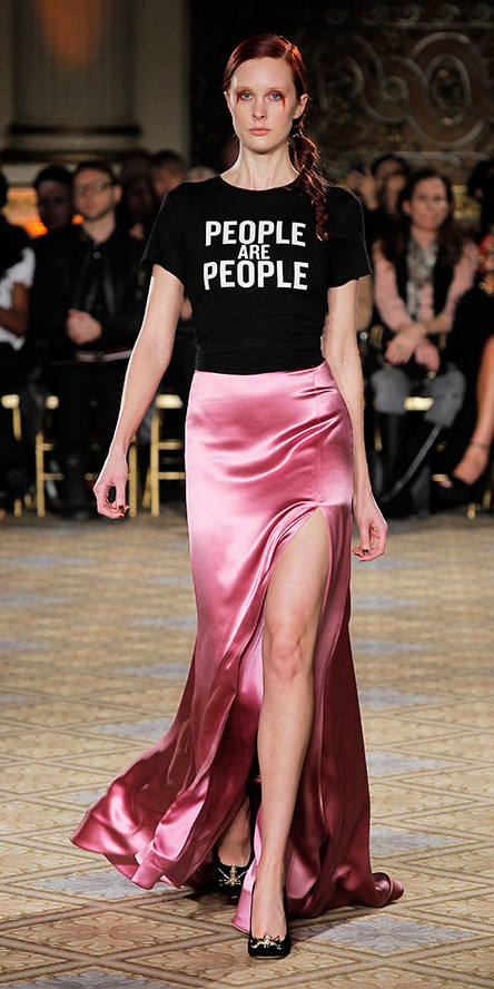 pink-magenta-maxi-skirt-black-graphic-tee-hairr-pony-black-shoe-pumps-slit-silk-fall-winter-dinner.jpg