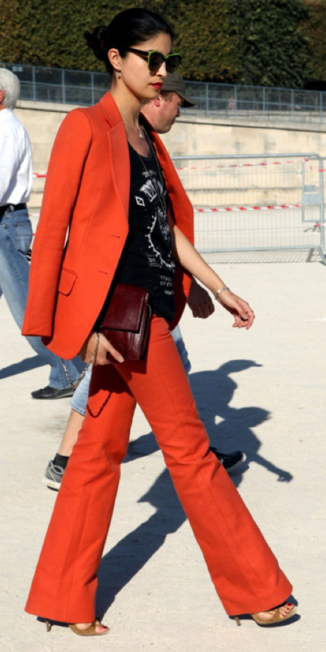 orange-wideleg-pants-black-graphic-tee-orange-jacket-blazer-suit-bun-sun-brun-fall-winter-dinner.jpg