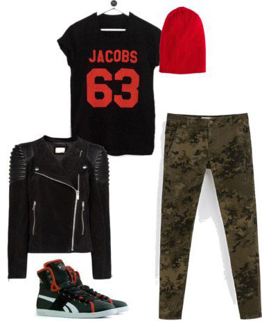 green-olive-skinny-jeans-camo-print-beanie-black-graphic-tee-green-shoe-sneakers-black-jacket-moto-fall-winter-weekend.jpg