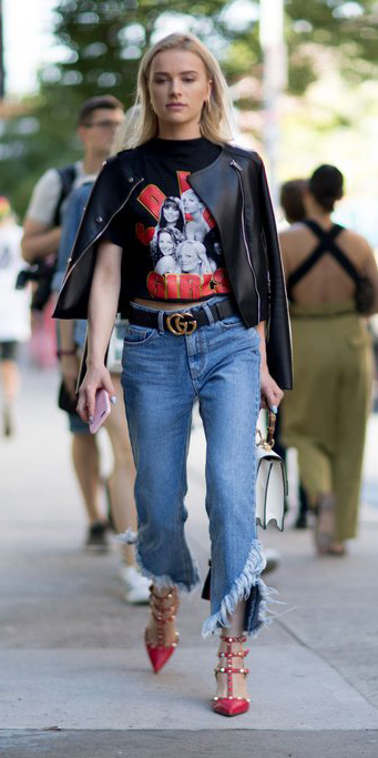 blue-med-crop-jeans-black-graphic-tee-belt-black-jacket-moto-white-bag-red-shoe-pumps-spring-summer-blonde-dinner.jpg