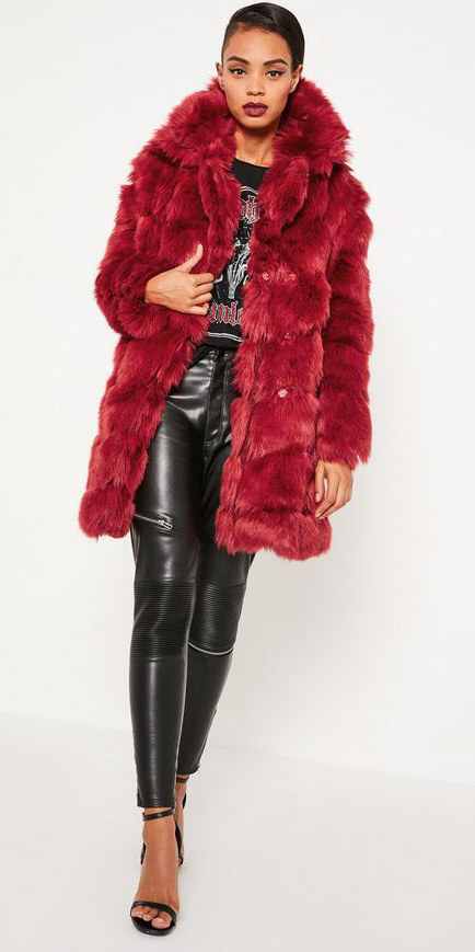 black-skinny-jeans-leather-black-graphic-tee-black-shoe-sandalh-bun-red-jacket-coat-fur-fuzz-fall-winter-brun-dinner.jpg