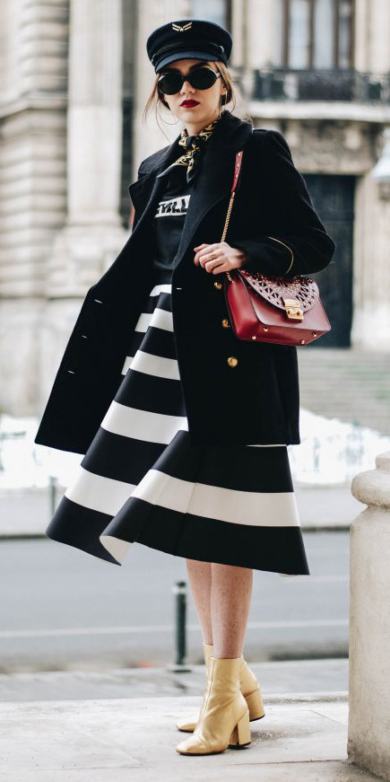 black-midi-skirt-bold-stripes-black-graphic-tee-black-scarf-neck-black-jacket-coat-red-bag-sun-hat-yellow-shoe-booties-fall-winter-hairr-lunch.jpg