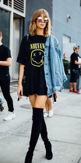 black-shoe-boots-otk-blue-light-jacket-jean-sun-black-graphic-tee-fall-winter-hairr-lunch.jpg