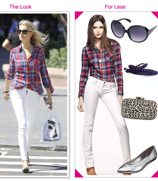 white-skinny-jeans-red-plaid-shirt-karolinakurkova-gray-shoe-flats-sun-tan-bag-clutch-leopard-howtowear-fashion-style-outfit-blonde-spring-summer-weekend.jpg