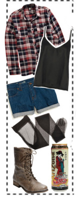 blue-med-shorts-red-plaid-shirt-black-tank-black-tights-brown-shoe-booties-fall-winter-weekend.jpg