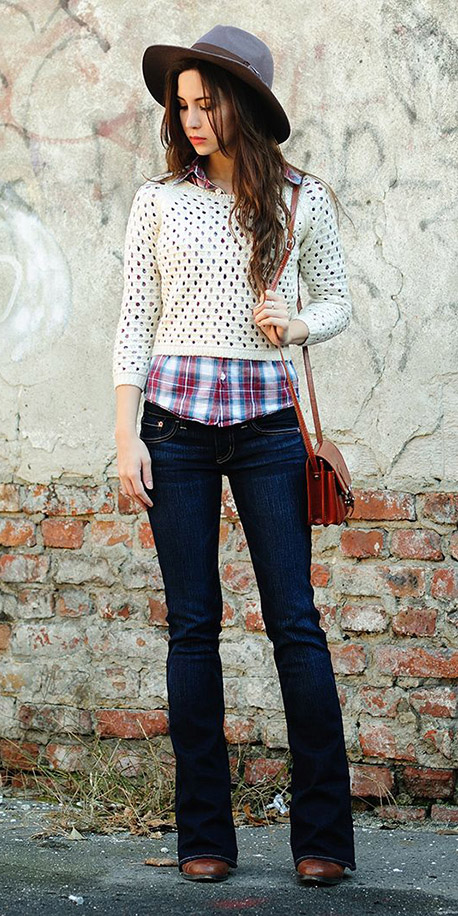 blue-navy-flare-jeans-red-plaid-shirt-white-sweater-red-bag-hairr-hat-fall-winter-weekend.jpg