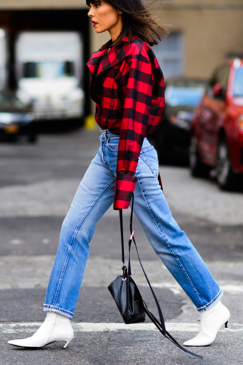 blue-med-boyfriend-jeans-white-shoe-booties-red-plaid-shirt-fall-winter-hairr-lunch.jpg