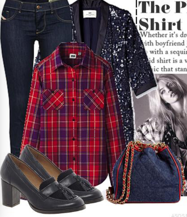 blue-navy-skinny-jeans-red-plaid-shirt-howtowear-fashion-style-outfit-fall-winter-black-shoe-pumps-sequin-blue-navy-jacket-blazer-sequin-blue-bag-lunch.jpg