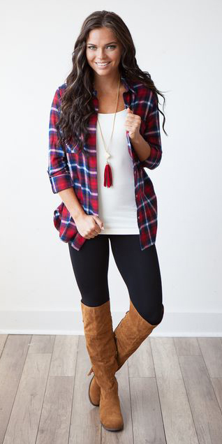 black-leggings-white-tank-neclace-pend-cognac-shoe-boots-red-plaid-shirt-fall-winter-hairr-weekend.jpg