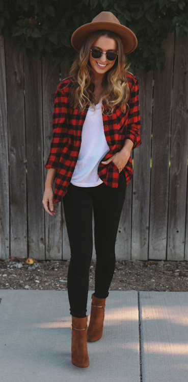 black-skinny-jeans-white-tee-red-plaid-shirt-cognac-shoe-booties-hat-sun-howtowear-fashion-style-outfit-hairr-fall-winter-weekend.jpg