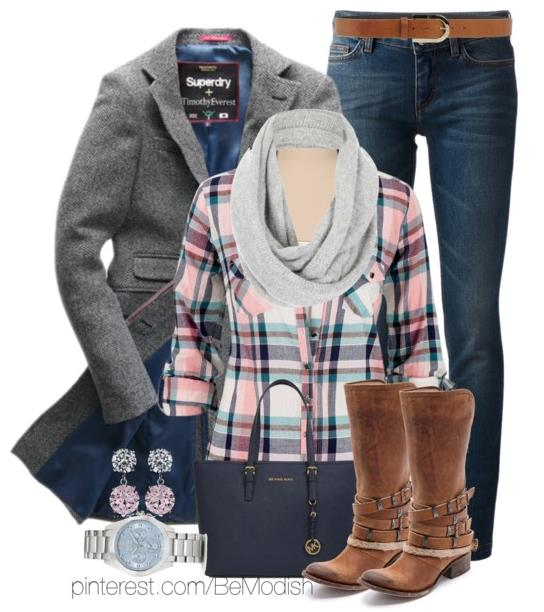 blue-navy-skinny-jeans-r-pink-light-plaid-shirt-grayl-scarf-cognac-shoe-boots-blue-bag-tote-watch-earrings-grayl-jacket-coat-howtowear-fashion-style-outfit-fall-winter-weekend.jpg