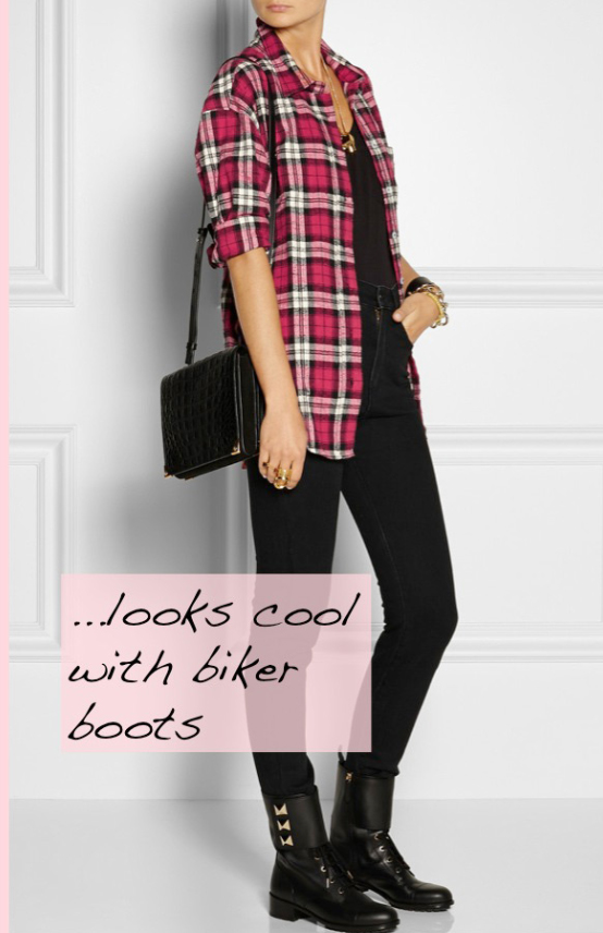black-skinny-jeans-black-tee-howtowear-style-fashion-fall-winter-r-pink-magenta-plaid-shirt-black-shoe-booties-black-bag-necklace-weekend.jpg