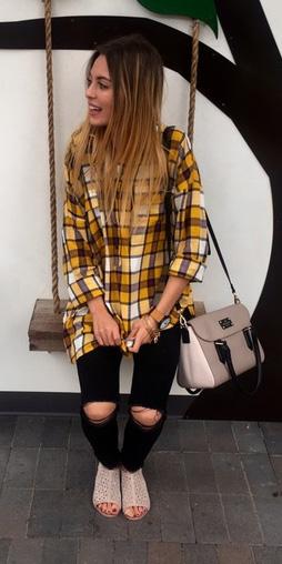 black-skinny-jeans-tan-bag-yellow-plaid-shirt-fall-winter-blonde-weekend.jpg