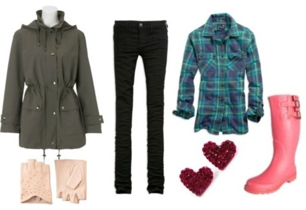 blue-navy-skinny-jeans-green-emerald-plaid-shirt-green-olive-jacket-utility-parka-gloves-pink-shoe-boots-howtowear-fashion-style-outfit-fall-winter-weekend.jpg