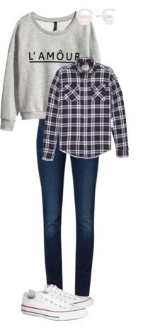 blue-navy-skinny-jeans-grayl-sweater-sweatshirt-white-shoe-sneakers-pearl-studs-purple-royal-plaid-shirt-fall-winter-weekend.jpg