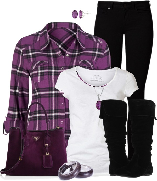 black-skinny-jeans-white-tee-purple-royal-plaid-shirt-purple-bag-bracelet-necklace-pend-studs-black-shoe-boots-howtowear-fashion-style-outfit-fall-winter-weekend.jpg