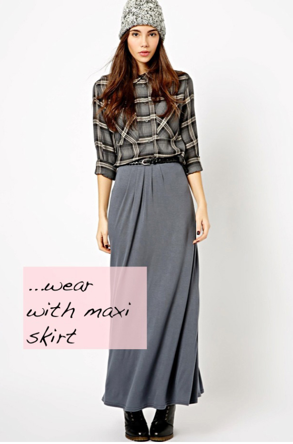 grayl-maxi-skirt-grayl-plaid-shirt-wear-style-fashion-fall-winter-plaid-belt-black-shoe-boots-beanie-brun-lunch.jpg
