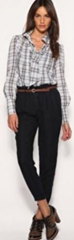 black-chino-pants-grayl-plaid-shirt-brun-fall-winter-wear-fashion-style-brown-shoe-booties-belt-work.jpg