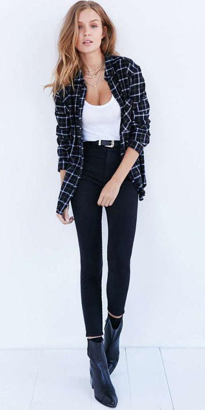 black-skinny-jeans-white-tank-belt-black-shoe-booties-black-plaid-shirt-fall-winter-hairr-weekend.jpg