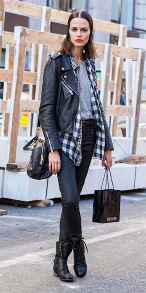 black-skinny-jeans-grayl-tee-layer-black-jacket-moto-black-shoe-booties-black-plaid-shirt-fall-winter-brun-weekend.jpg