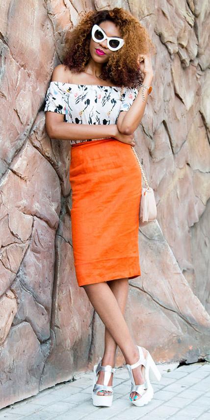 orange-pencil-skirt-white-shoe-sandalh-sun-print-white-top-offshoulder-spring-summer-hairr-lunch.jpg