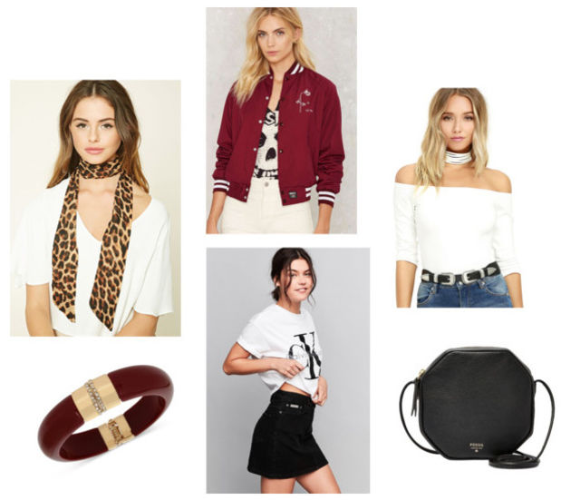 black-mini-skirt-white-top-black-bag-howtowear-fashion-style-outfit-spring-summer-offshoulder-red-jacket-bomber-tan-scarf-lunch.jpg