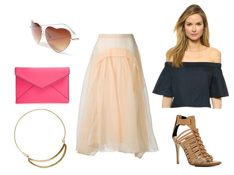 peach-midi-skirt-pink-bag-clutch-necklcae-sun-tan-shoe-sandalh-black-top-offshoulder-spring-summer-dinner.jpg