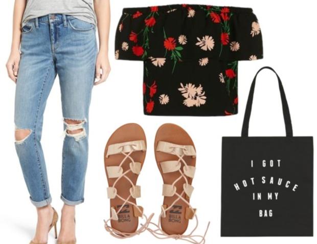 blue-light-boyfriend-jeans-black-top-offshoulder-floral-howtowear-fashion-style-outfit-spring-summer-tan-shoe-sandals-black-bag-tote-weekend.jpg