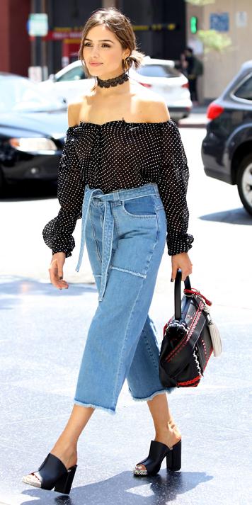 blue-light-culottes-pants-black-top-blouse-peasant-offshoulder-choker-black-bag-black-shoe-sandalh-bun-hairr-spring-summer-lunch.jpg