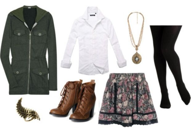 r-pink-light-mini-skirt-white-collared-shirt-green-olive-jacket-coat-utility-parka-cognac-shoe-booties-necklace-pend-floral-black-tights-tuckinshirt-howtowear-fashion-outfit-fall-winter-lunch.jpg